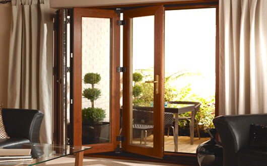 Bi-fold Doors Wood Effect