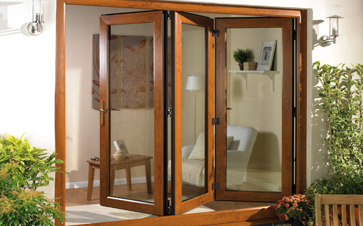 Bi-fold Doors Wood Effect 3 Doors
