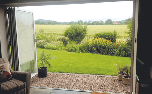 Bi-fold doors open example