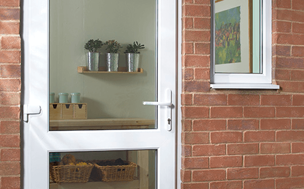 UPVC Door - Double Glass Panel